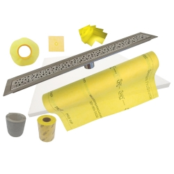PSC Stainless Steel 26 to 48 Inch Linear Trench Drain Shower Kits