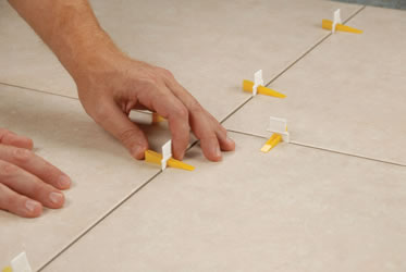 Lash Tile Leveling Wedges and Clips by QEP