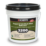 3200 Preferred Carpet and Felt Back Vinyl Adhesive 4 Gallons by Roberts