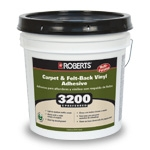 Roberts 3200 Preferred Carpet and Felt Back Vinyl Adhesive 4 Gallons