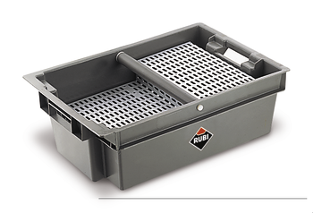 Tray with Drainer by Rubi
