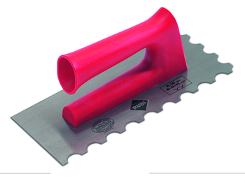 Finishing Trowels and Jagged Trowels with Open Plastic Handle by Rubi