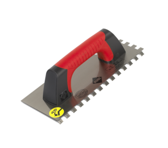 Notched Trowels 45 Degree flex Closed Handle by Rubi