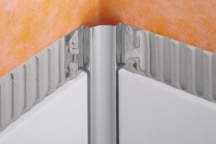 DILEX-EHK Stainless Steel Cove-Shaped Corner Profiles by Schluter Systems