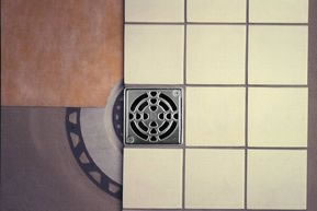 Kerdi Shower Drain Kit - 4 Inch Grate by Schluter Systems