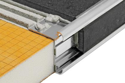 RONDEC-CT Anodized Aluminum Double-rail Edging Profile by Schluter Systems