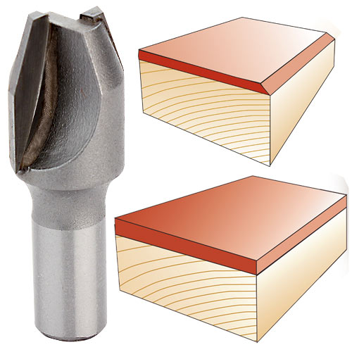 Combination Bevel and Flush Trim Router Bits by Velepec