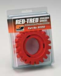 92255 4 Inch RED-TRED Eraser Wheel by Dynabrade